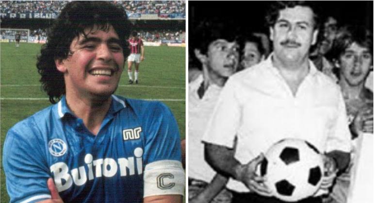 Maradona joue un match de foot avec Pablo Escobar dans la prison du baron de la drogue